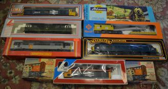Various model trains including Lima, Hornby,