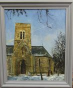 Oil painting 'Christmas day,