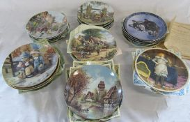35 collectors plates with certificates inc Royal Doulton
