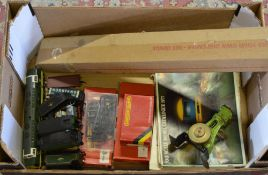 Mixed model railway items including OO gauge track, 1970s Hornby collectors catalogues,