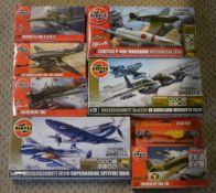 Approx 7 Airfix 1:72 model kits including Messerschmitt Me262a Dogfight Doubles