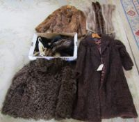 Quantity of furs and fur coats inc Astrakhan coat