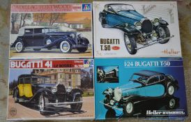 2 Italeri model kits and 2 Heller model kits,