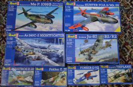 Approx 8 Revell 1:72 model kits including Junkers Ju-87, B2 R2,