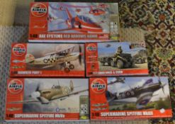 Approx 5 Airfix 1:48 model kits including British Forces Quad Bikes & Crew etc