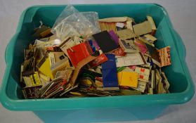 Large quantity of match boxes and covers