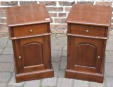 Pair of reproduction Victorian mahogany bedside cabinets