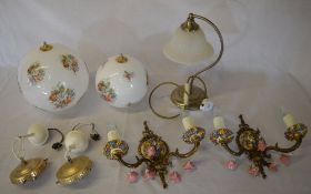 Various light fittings and shades (some not photographed - 2 boxes)