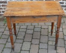 Victorian side pine table