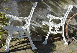 2 pairs of bench ends