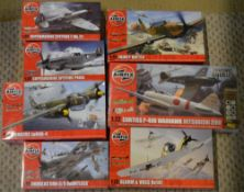Approx 7 Airfix 1:72 model kits including Fairey Battle and Blohm & Voss Bv141