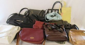 2 boxes of assorted handbags inc Radley, Per Una,