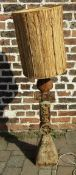 Retro stoneware lamp H 135 cm