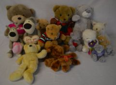 Collection of teddy bears