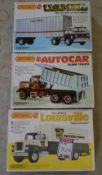 3 boxed Matchbox 1:25 model kits, unbuilt, US Mail Ford C-900 Truck,