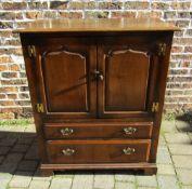 Tichmarsh & Goodwin Georgian style oak TV cabinet