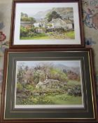 2 prints by Judy Boyes 'Summer morning at Low Yewdale Coniston' 560/850 signed and numbered in