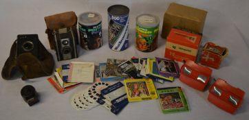 Vintage jigsaw puzzles, cameras,