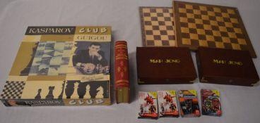 Kasparov chess set, 2 chess boards,