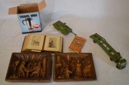 Vintage photograph album, Dinky toys,