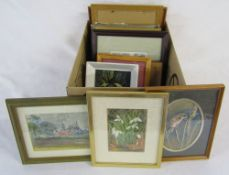 Selection of small paintings and prints including Peter Hodson of Cleethorpes