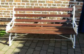 Victorian garden bench with cast iron ends L168cm
