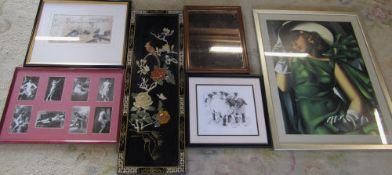 Assorted prints,