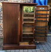 Mahogany fitted thick door Compactom wardrobe Ht 175cm W 128cm