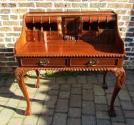 Modern Chippendale style mahogany desk from The Kingswood Collection