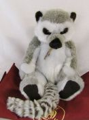 Modern jointed teddy bear / lemur by Charlie Bears 'Bandit' designed by Isabelle Lee L 45 cm