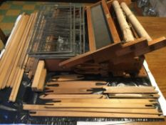 Dryad of Leicester four shaft weaving table loom with extras