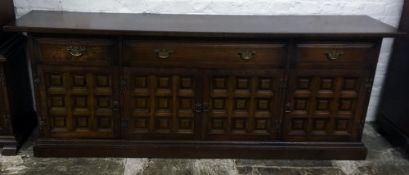 Modern dark oak sideboard Ht77cm L207cm D49cm