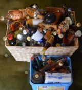 Quantity of alcoholic miniatures including VAT 69, Bells whisky, vodka,