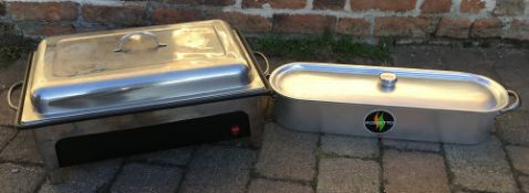 Rossetto fish kettle & a Sunnex food warmer