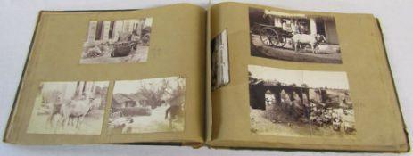 Scrapbook containing Old British Empire photographic prints (India,