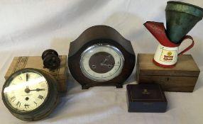 Henry Brownies & Son brass ships clock (AF), Allcock fishing reel,