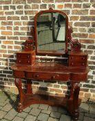 Victorian mahogany Duchess dressing table