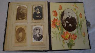 Vintage photograph album with contents