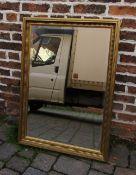 Bevelled edge gilt framed mirror