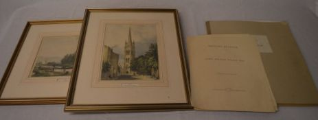 James William Wilson 'Sketches of Louth' including tradesmen samples