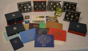 Quantity of GB coins including Britains First Decimal Coins, proof sets,