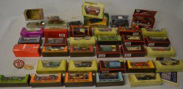 Quantity of boxed die cast model cars including Solido, Rio, Polistil,