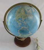 Readers Digest 1969 scan-globe table lamp