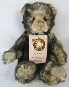 Modern jointed limited edition teddy bear by Charlie Bears 'Wurve you' 1062/6000 designed by