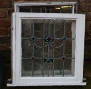 3 leaded glass windows