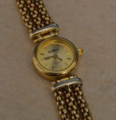 9ct gold Ca'D'oro quartz wristwatch, total approx weight 25.