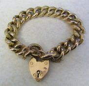 9ct gold bracelet with locket weight 30.