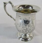 Small silver tankard Birmingham 1921 H 9 cm (including handle) weight 2.