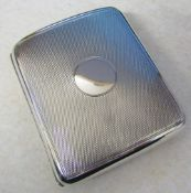 Silver cigarette case London 1908 by Sampson Morden & Co weight 3.