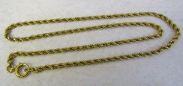 15ct gold rope chain length 44 cm weight 16.